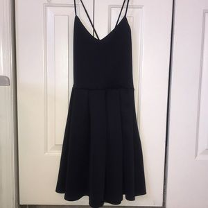 NWOT navy blue fit and flare dress